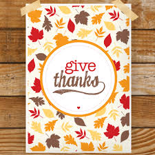 give thanks thanksgiving print