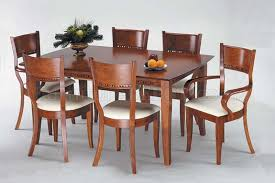 cherry color modern dining table w optional chairs