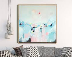 Contemporary Art Home Decor Abstract Seascape Etsy