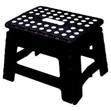 foldable step stool black rona
