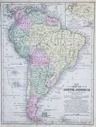 Printable Map Of South America by Map Of South America 1854