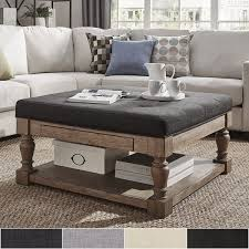 Diy Storage Ottoman Coffee Table Table With Ottomans Glass Coffee Table With Ottomans Enchanting