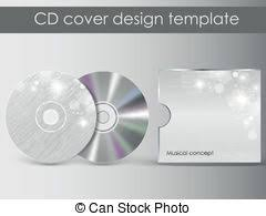 abstract floral cd cover template vector illustration vectors