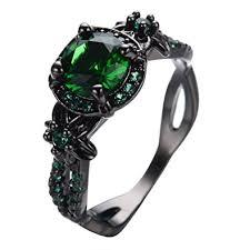 green wedding rings womens green lab engagement wedding