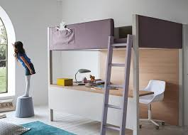 Modern Bunk Bed With Desk Nidi Camelot Bunk Bed With Desk Modern Bunk Beds At Mood