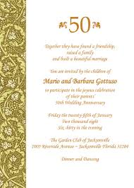 wedding anniversary program wedding invitations for a 50th wedding anniversary personalized