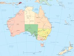 map world nz australia and new zealand political map