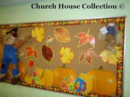fall scarecrow bulletin board idea for sunday school