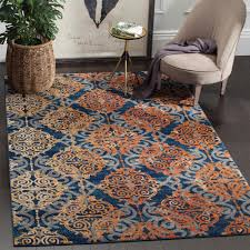 Orange And Brown Area Rugs Safavieh Evoke Blue Orange 3 Ft X 5 Ft Area Rug Evk230s 3 The