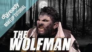 Werewolf Halloween Makeup by The Wolfman Halloween Makeup Youtube