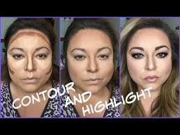 contour highlight for a round face