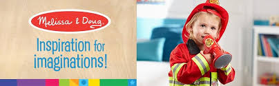 amazon com melissa u0026 doug fire chief role play costume dress up