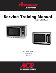 acp mcs10ts service manual