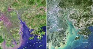 Delta Interactive Route Map by China U0027s Pearl River Delta Then And Now Ecoclimax