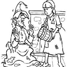 wicked witch coloring pages munchkins silhouettes wizard oz