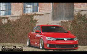 volkswagen gli slammed dorbritz designs air bagging a mk6 gli red and gold airlift