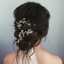bridal hair bun bun wedding hair popsugar beauty