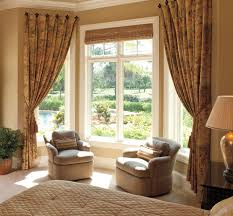 exterior elegant interior home design with pattern curtains and
