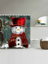 Snowman Shower Curtain Target by Christmas Snowman Bathroom Waterproof Shower Curtain Colormix Xl