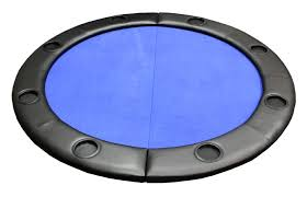 folding poker tables for sale padded round folding poker table top w cup holders blue p 621
