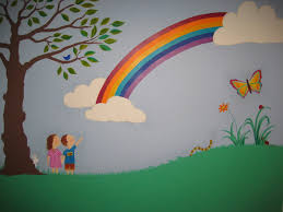 kids room design extraordinary rainbow wallpaper for kids room