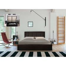 Ottoman Storage Bed Double by Chantilly Faux Leather Ottoman Storage Bed