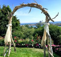 how to build a trellis archway driftwood wedding arch arbor wedding ceremony arbor