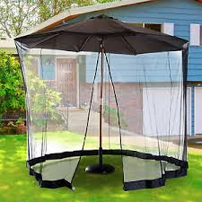 Mosquito Netting Patio 10ft Outdoor Umbrella Table Screen Patio Cover With Mosquito Net