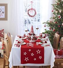 Kitchen Table Runners by Enchanting Window Christmas Decorations With Table Runner Adds