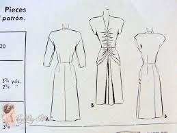 v shaped dress pattern 1940s stunning evening cocktail dress pattern low v neckline