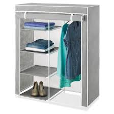 whitmor freestanding closet with gray cover target