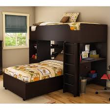 South Shore Logik Twin Over Twin LShaped Bunk Bed In Chocolate - L shaped bunk bed
