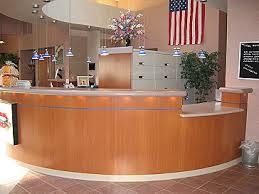 Laminate Reception Desk Waterloo Heights Dental Reception Desk Lower On The Side