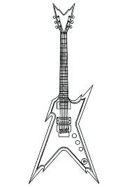large guitar coloring page guitar coloring pages guitar coloring pages electric guitar coloring