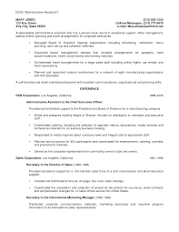 Sample Resume For Executive Administrative Assistant Special Events Cover Letter Gallery Cover Letter Ideas
