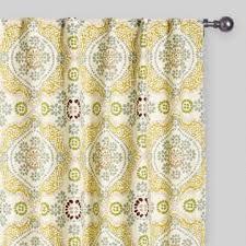 Navy Tab Top Curtains Indigo Ikat Concealed Tab Top Curtains Set Of 2 World Market