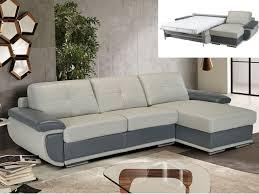 canapé cuir gris anthracite canapé d angle convertible cuir italien 2 coloris orgullosa