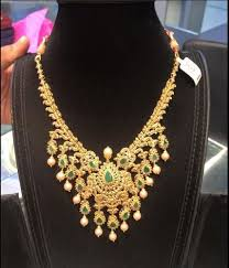 gold green necklace images Gold necklace set designer gold necklace set retailer from hyderabad jpg