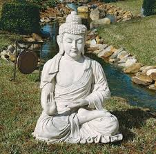 outdoor amazing large buddha garden statue for backyard decor
