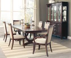 fabulous cognac finish formal dining table u0026 6 chairs dining room