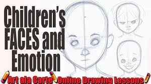 how to draw children u0027s faces and expressions youtube