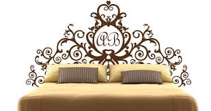 monogram royal headboard wall decals dezign with a z