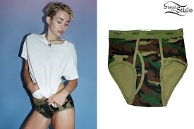 Camo Photo Album Miley Cyrus Camo Briefs Steal Her Style