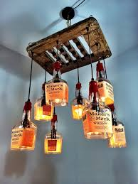 How To Make A Chandelier Out Of Beer Bottles Makers Mark Whiskey U0026 Driftwood 8 Bottle Chandelier Don U0027t Like