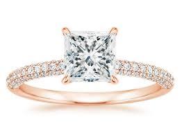 princess cut gold engagement rings stunning princess cut engagement rings brilliant earth