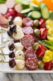 Easy Dinner Party Ideas For 12 Antipasto Skewers Dinner At The Zoo