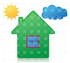 simple house sun and cloud vector clipart image 24635 u2013 rfclipart