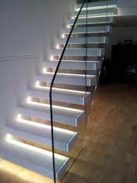 led light design for homes winsome upstairs led lights decors on white glass the top stairscase
