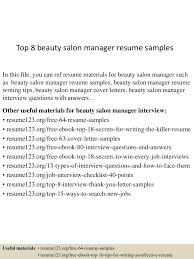 sample resume for hairstylist top8beautysalonmanagerresumesamples 150514023011 lva1 app6892 thumbnail 4 jpg cb 1431570656