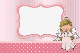 Invitation Cards Free Printable Girls Angel Free Printable Invitations Cards And Photo Frames